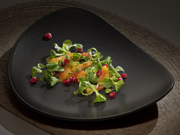 Салат корн с мятно-цитрусовой заправкой