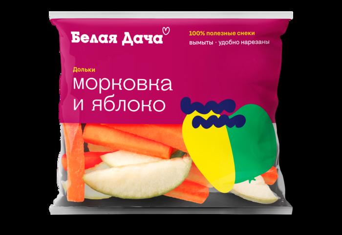 Микс из морковных палочек и яблочных долек